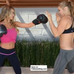 Ronda Rousey spars