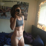fitness babe takes a selfie in her undies