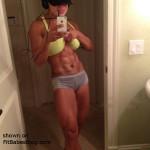 sweaty fitness babe