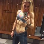 fitness babe in the locker room