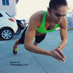 fitness babe clapping pushups