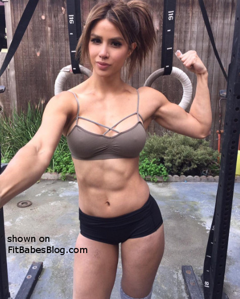 Kayli Ann Phillips flexes