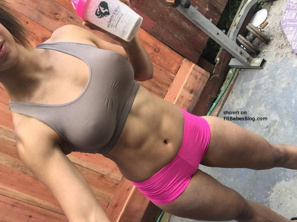 Kayli Ann Phillips hot pink shorts