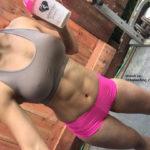 Kayli Ann Phillips hot pink shorts