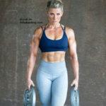 muscular blonde gal